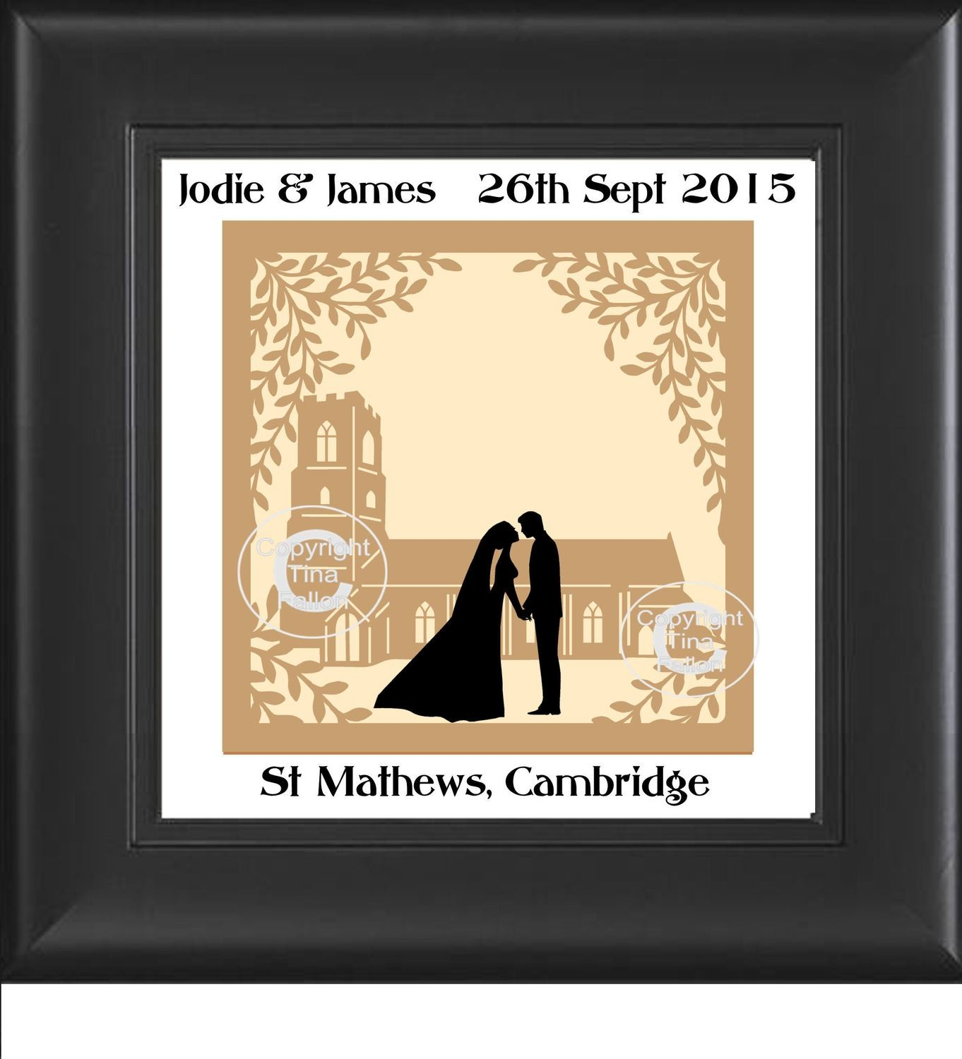 Church scene for paper and vinyl cutting - can be personalised and commercial use inc