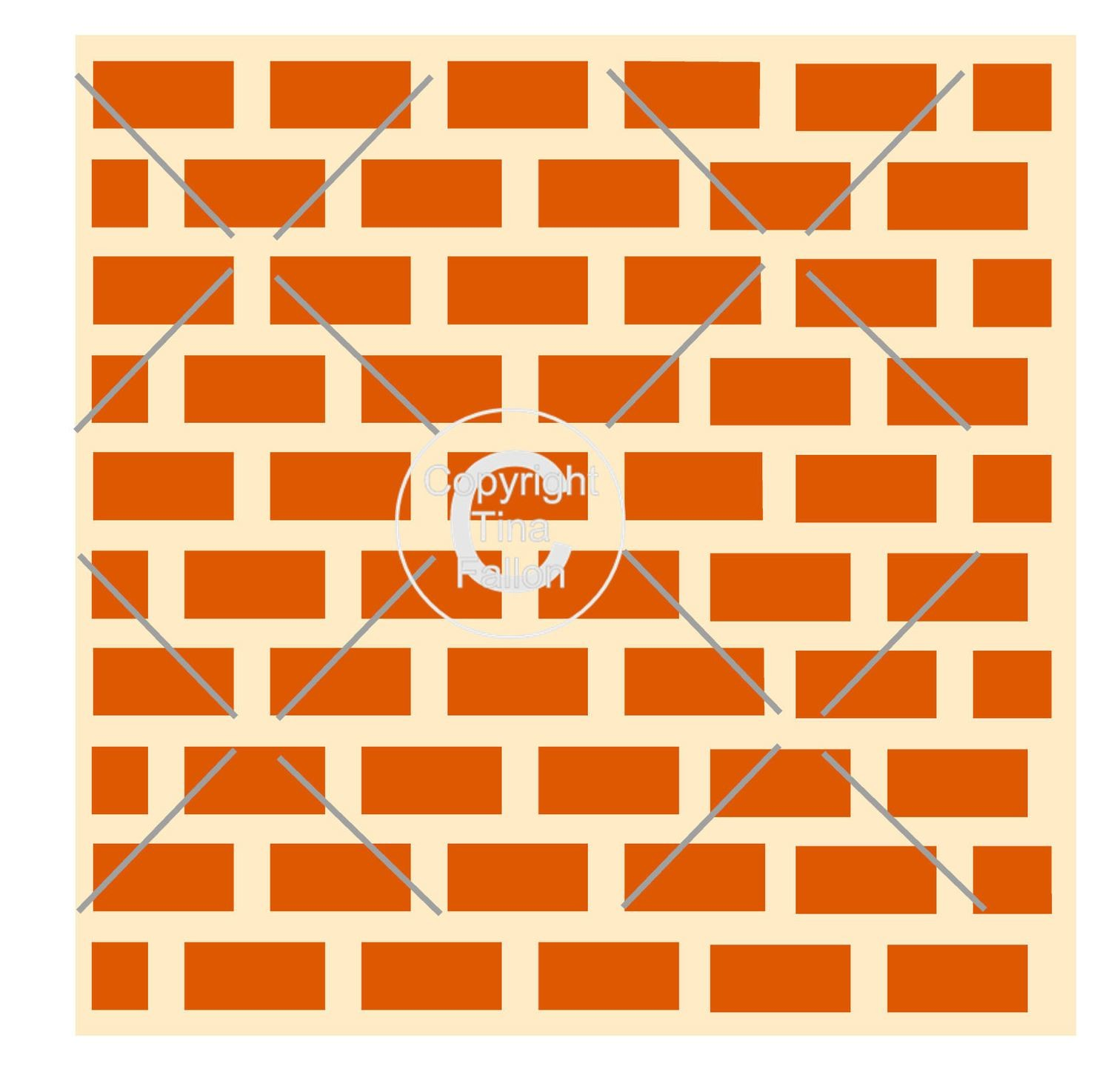 Brick Wall - Square template