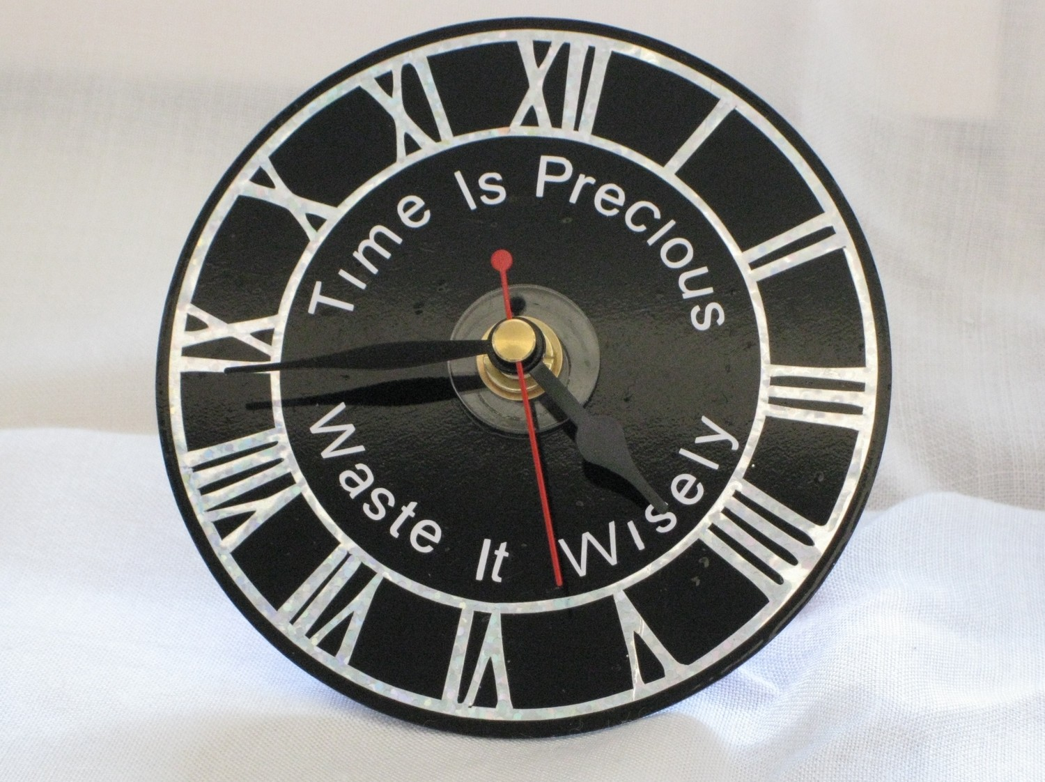 Time is Precious Clock Face for CD's / 45's / LP's and 78's