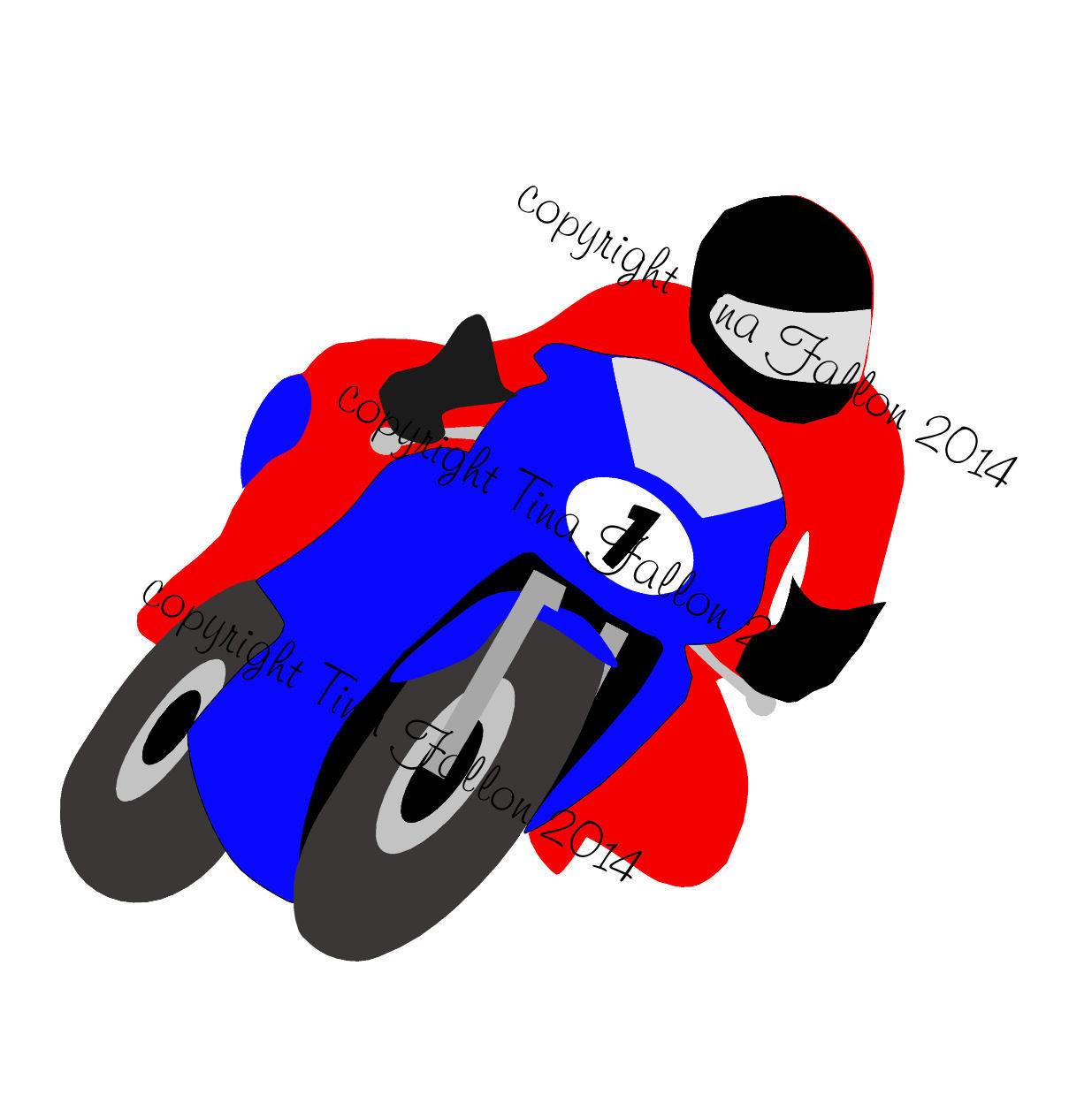Motorcycle paper piecing