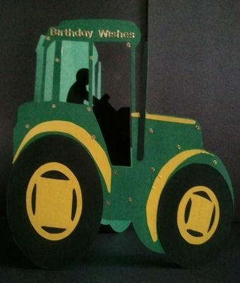 Tractor Shaped Card