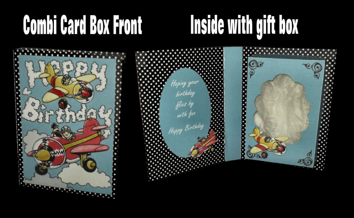 Birthday Plane Design No 1 Combi Card Box PNC