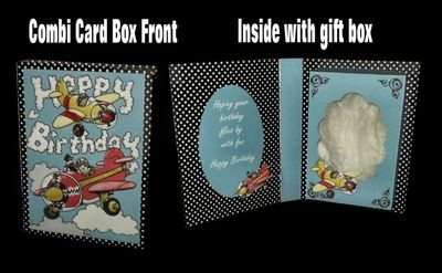 Birthday Plane Design No 1 Combi Card Box PNC