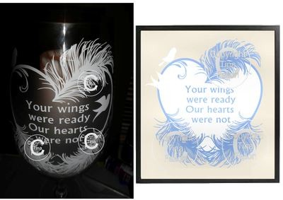 Your Wings Were Ready -(SVG file)  Memory,Baby,Bereavement,  Vinyl rec commercial use