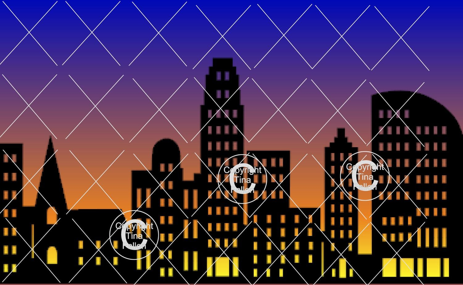 City Skyline - svg format