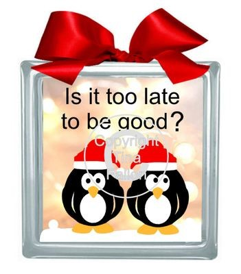 Penguin No3 Be Good  Glass Block Tile Design