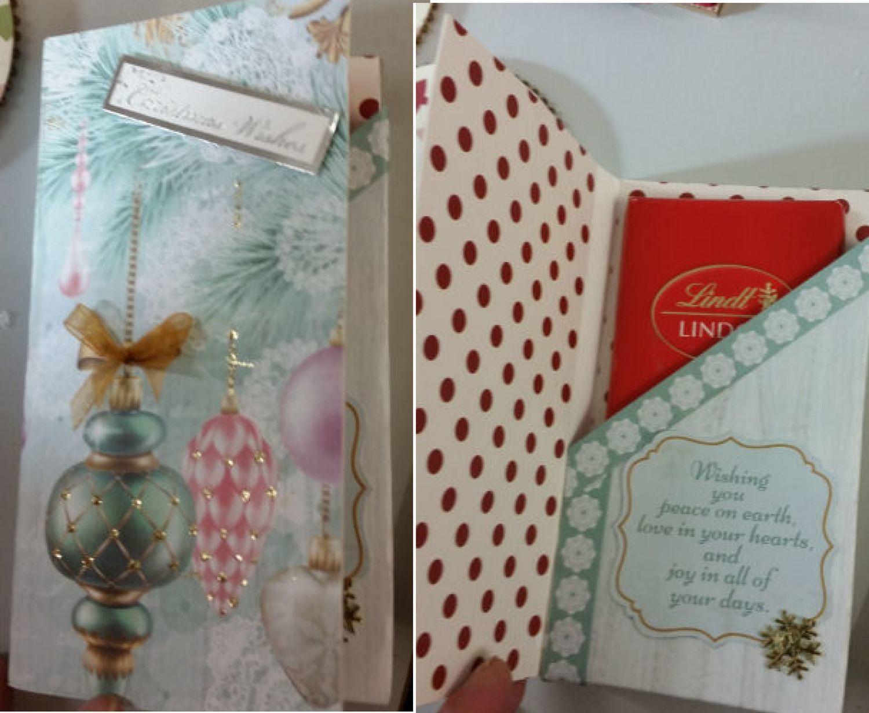 Christmas Chocolate Bar gift box card -  svg  file