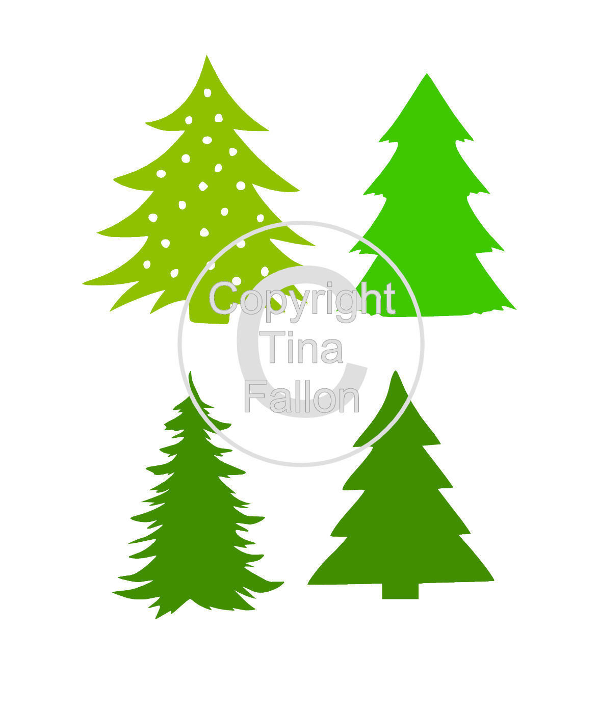 Christmas Trees Mix Set 3