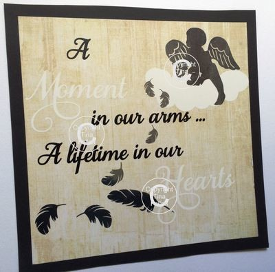 A moment in our arms  - baby memory, bereavement, angel wings, angel baby
