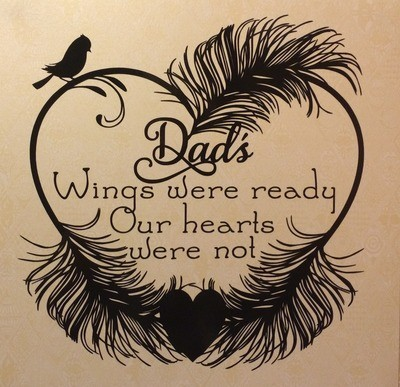 Dads Wings Were Ready -(Studio file)  Memory, Bereavement,  Vinyl rec commercial use