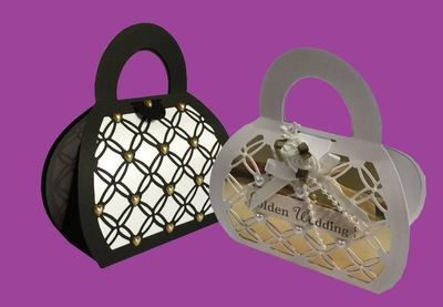 Handbag Gift Bag 2 - Entwined HEART  series matches other items