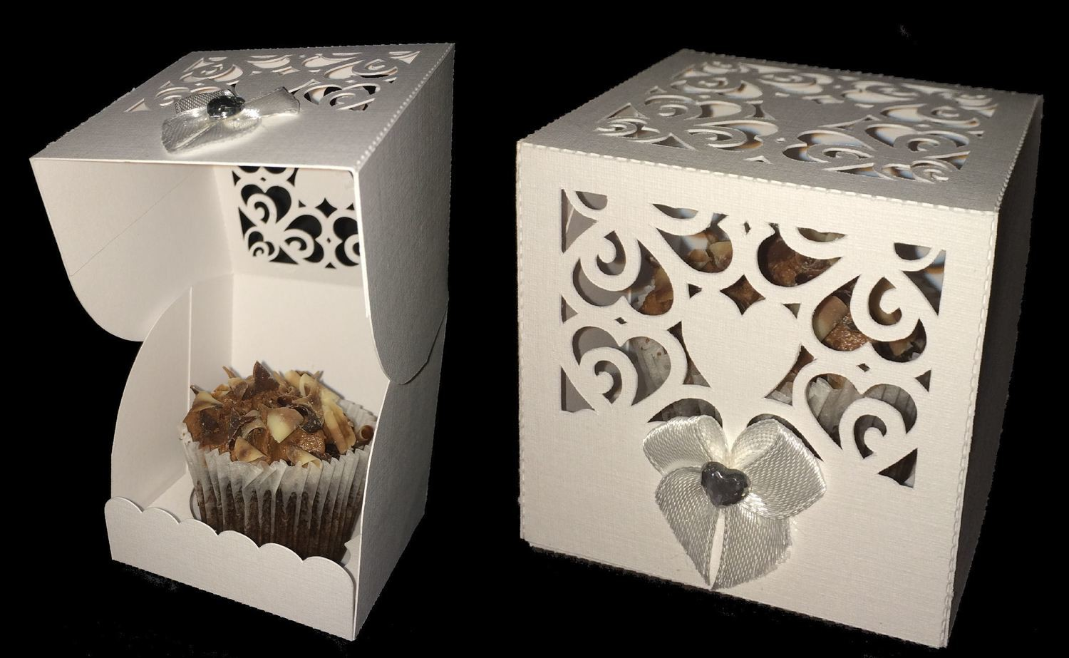 Heart Box 1 - Wedding, Anniversary,Birthday, Cupcake, Cake