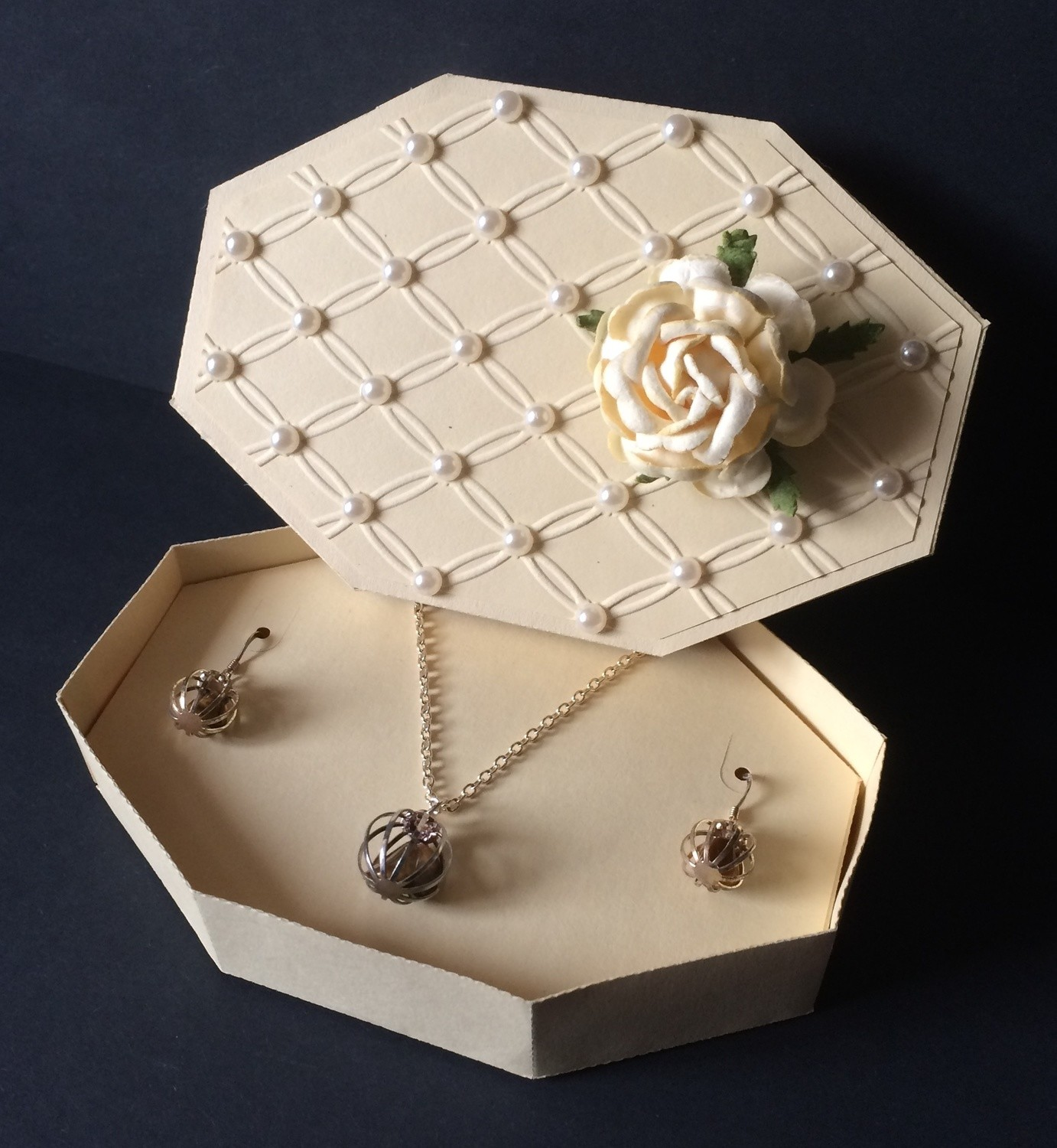 Large Jewellery Box with insert for Ear-rings and Necklace Mum mother