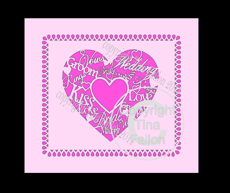 Wedding Heart Topper No 2