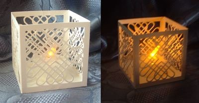 Entwined Hearts LED Tealight Holder