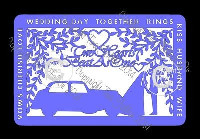 Wedding Day Frame No 2 with Car
