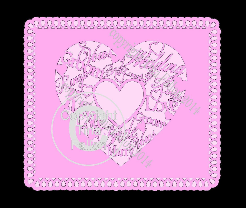 Wedding Heart Topper