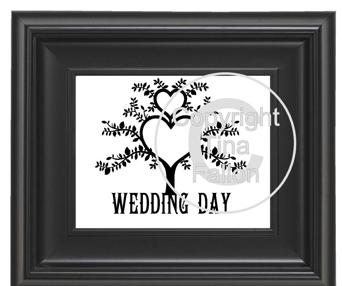 Wedding  Tree Papercut No 2