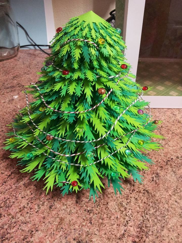 Create your Own 3d Christmas  Tree with box
