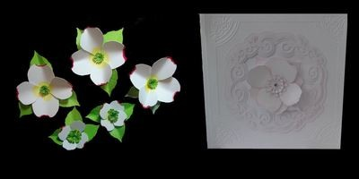 Dogwood  3d flower. . Create your own stunning flowers - FCM  format