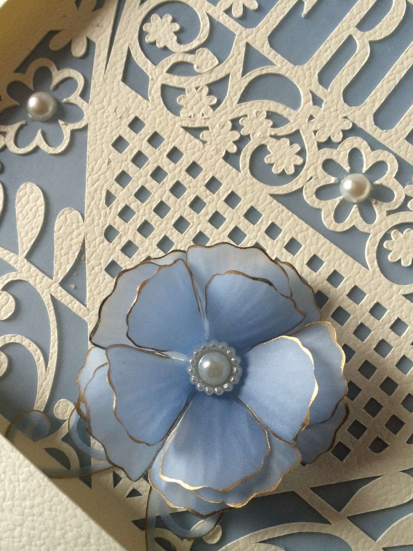 flower Ranunculus - peony 3d flower - FCM scan n cut format -