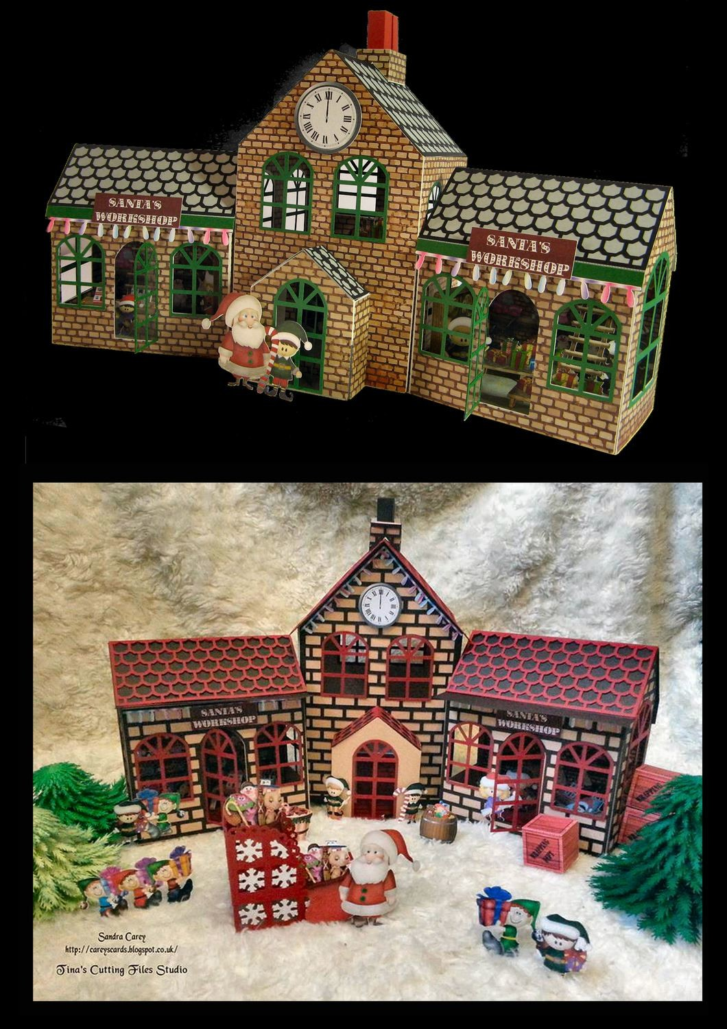 Santa's Workshop / Train Station  Main Building and Side Workshop FCM Scan n Cut format