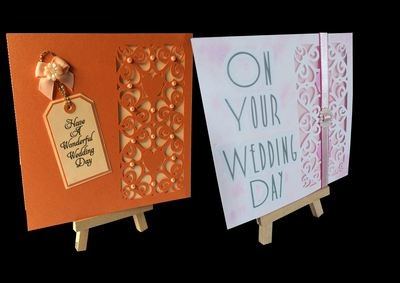 Hearts & Romance Square card no 1 great for wedding stationery, anniversaries, engagement etc