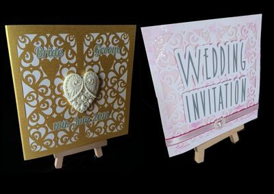 Hearts & Romance Square card no 3 great for wedding stationery, anniversaries, engagement etc
