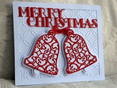 CARD TEMPLATE CHRISTMAS BELLS