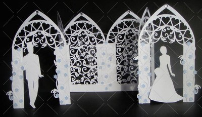 Wedding Arch Triple fold with Filigree