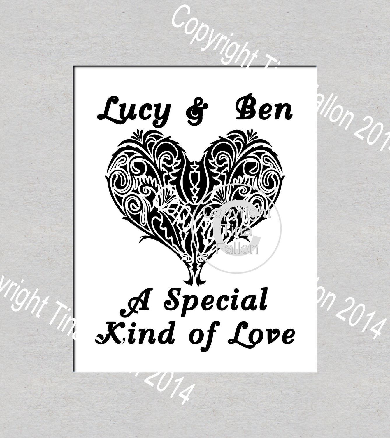 A Special Kind of Love, Vinyl Art Quote