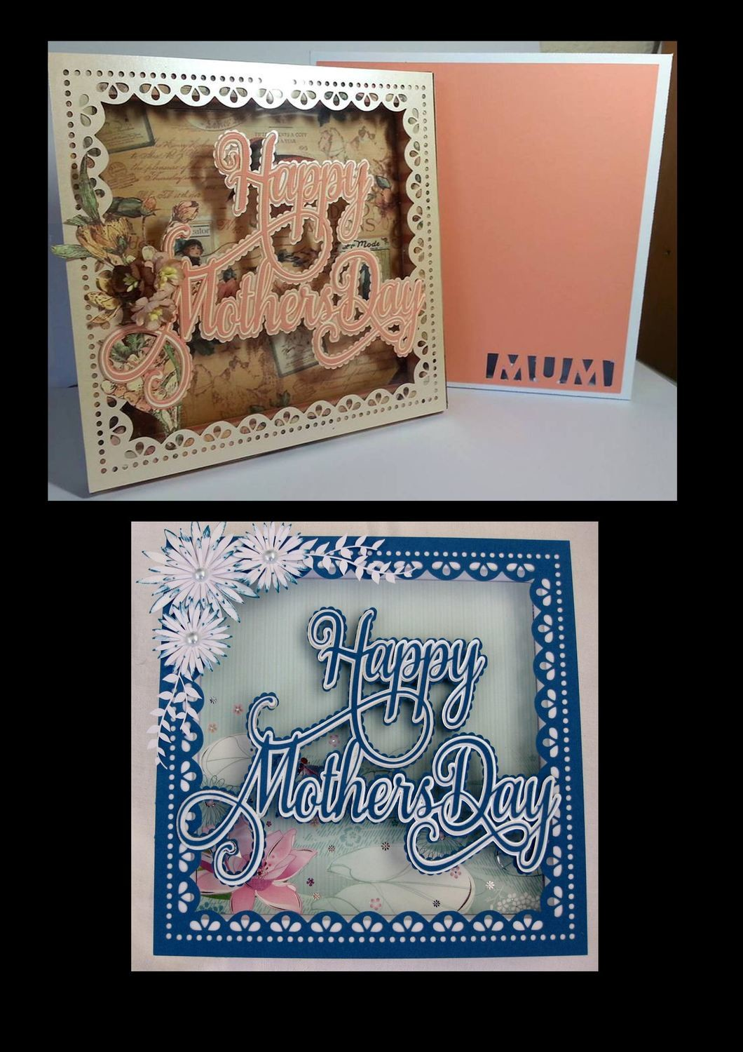 Happy Mothers Day SHADOW BOX with gift box