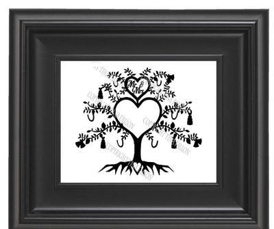 Wedding / Anniversary Tree Papercut No 1