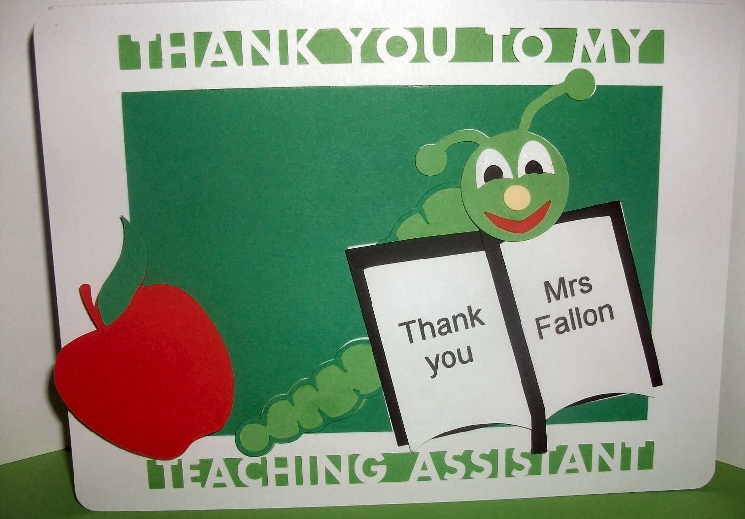 Teaching Assistant Thank You Layered Card Template