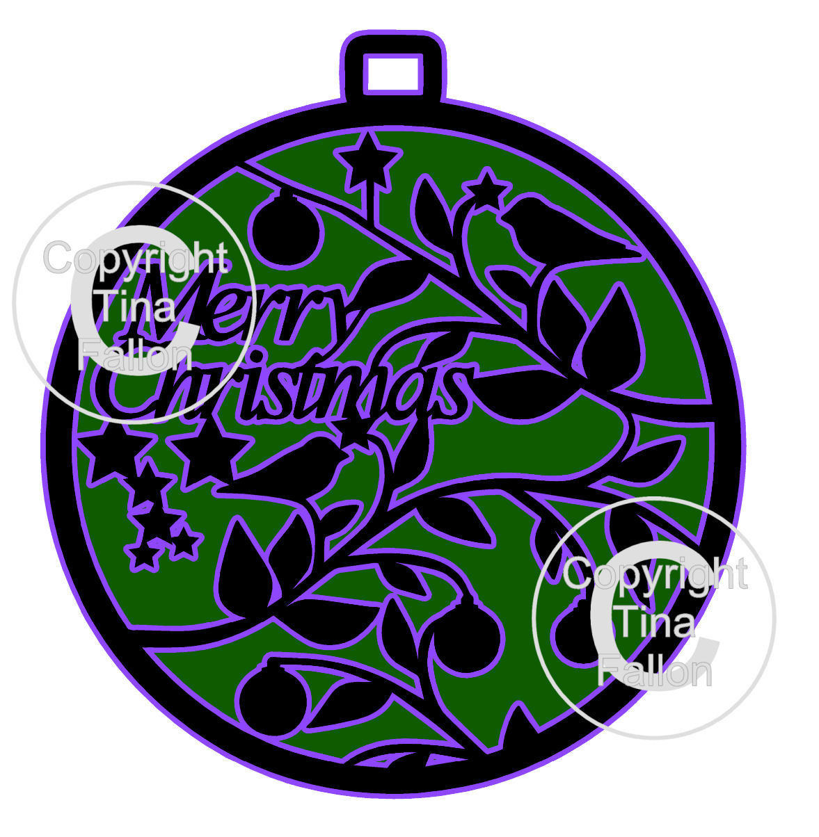 Christmas Bauble Hanger / Topper Bird / Robin theme