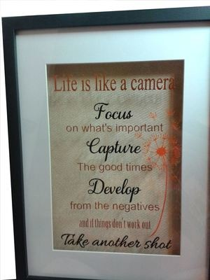Life is Like A Camera Quote - commercial use allowed to make handmade projects