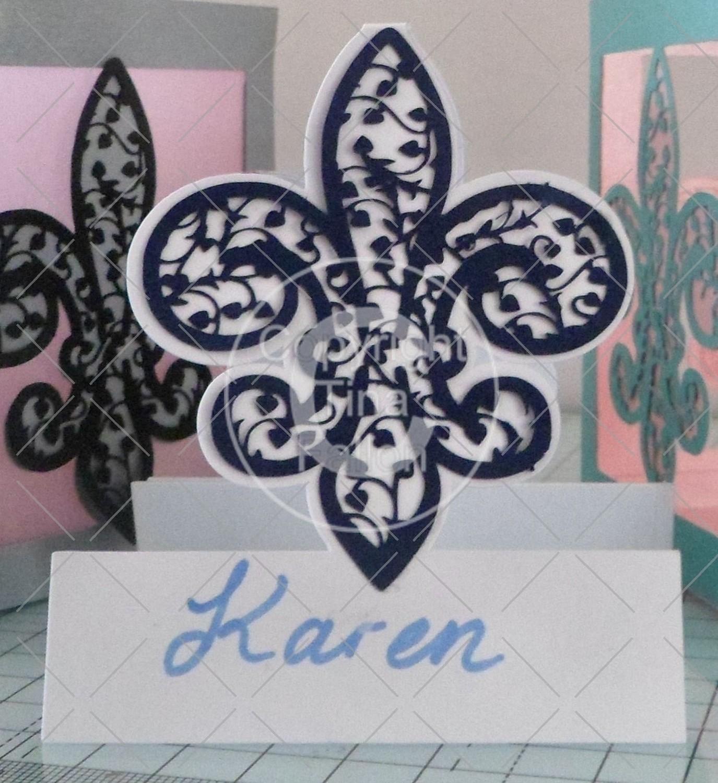 Fleur De Lis - Place Cards