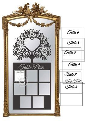Ex Large Wedding Table Planner for 8 tables - studio fornat