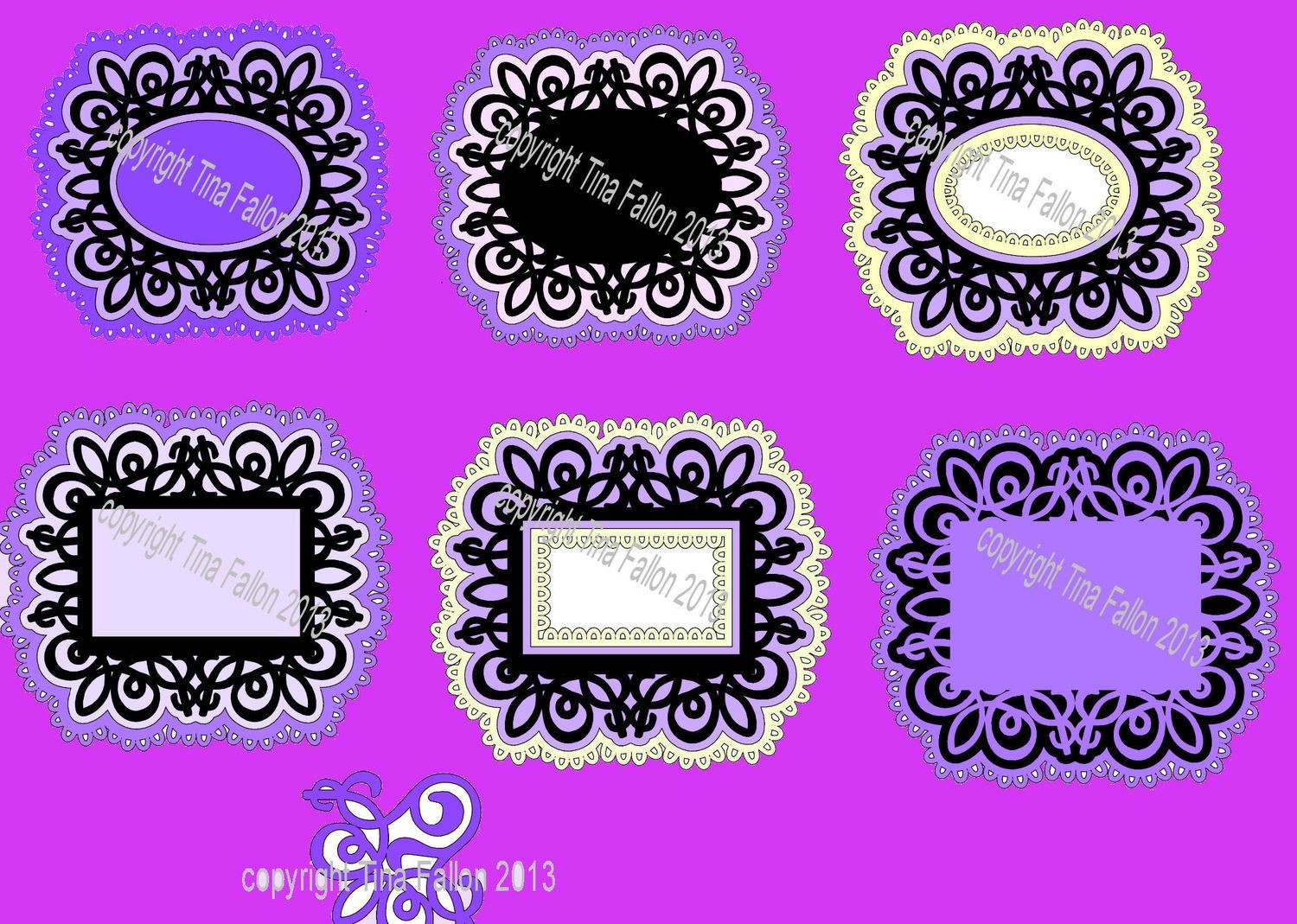 Frame Set 5 Mix n Match sets of frames with underlayers/mats.
