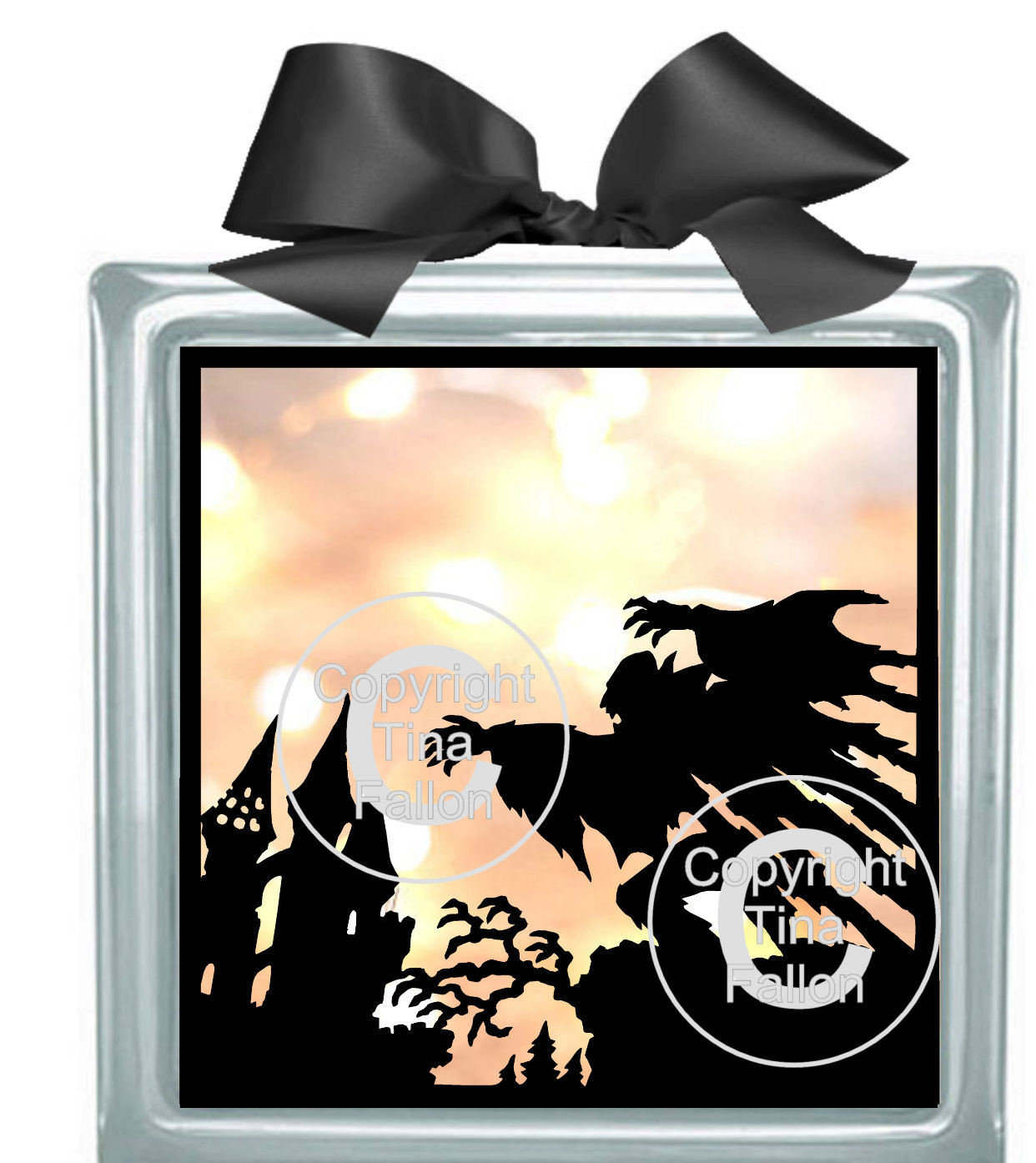 Fantasy, Goth, Halloween 3 - design for vinyl and glass blocks