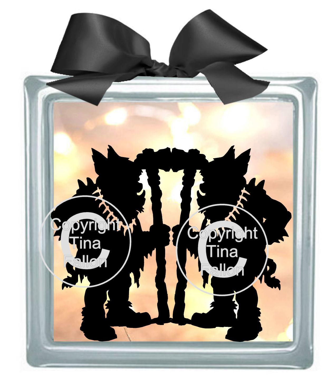 Fantasy, Goth, Halloween Goblins 4 - design for vinyl and glass blocks