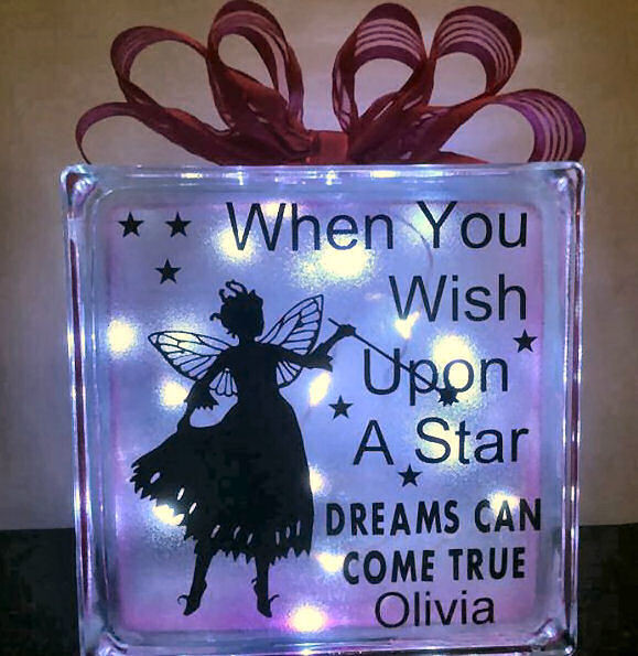 Fairy When You Wish Upon A Star - design for vinyl and glass blocks