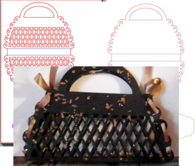 2 Handbag Card templates