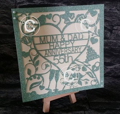 55th Emerald Wedding Anniversary Card  to Mum & Dad