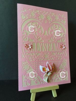 Stepmother - Welsh Card (with box)  beautiful cutout design