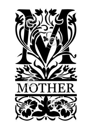 Mother Decorative Split Lettering
