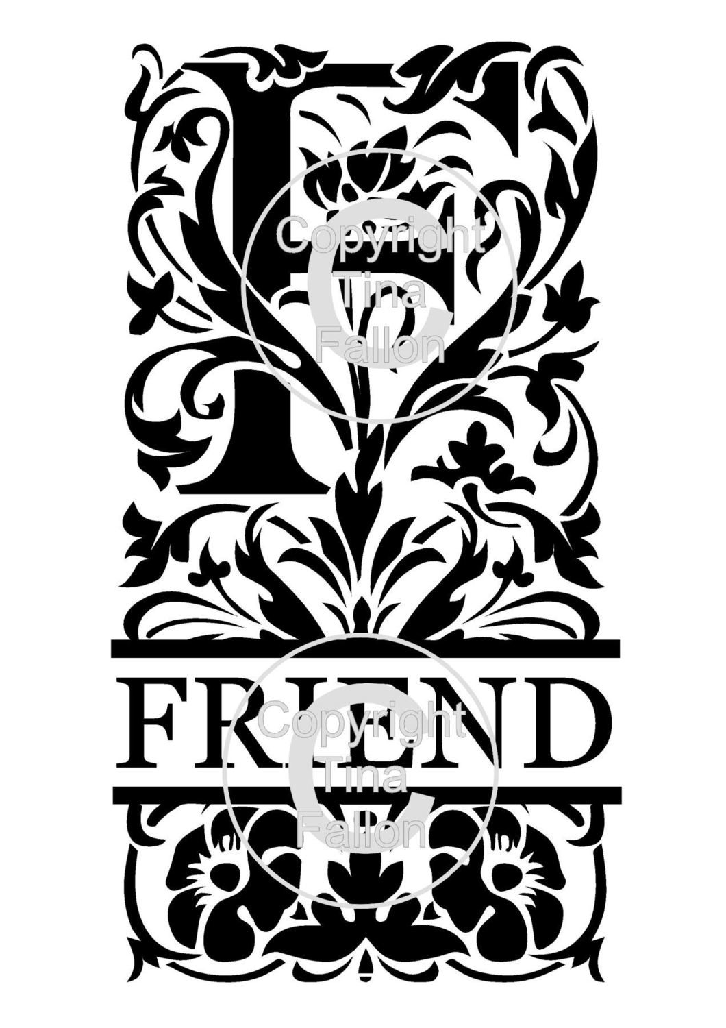 Friend Decorative Split Lettering
