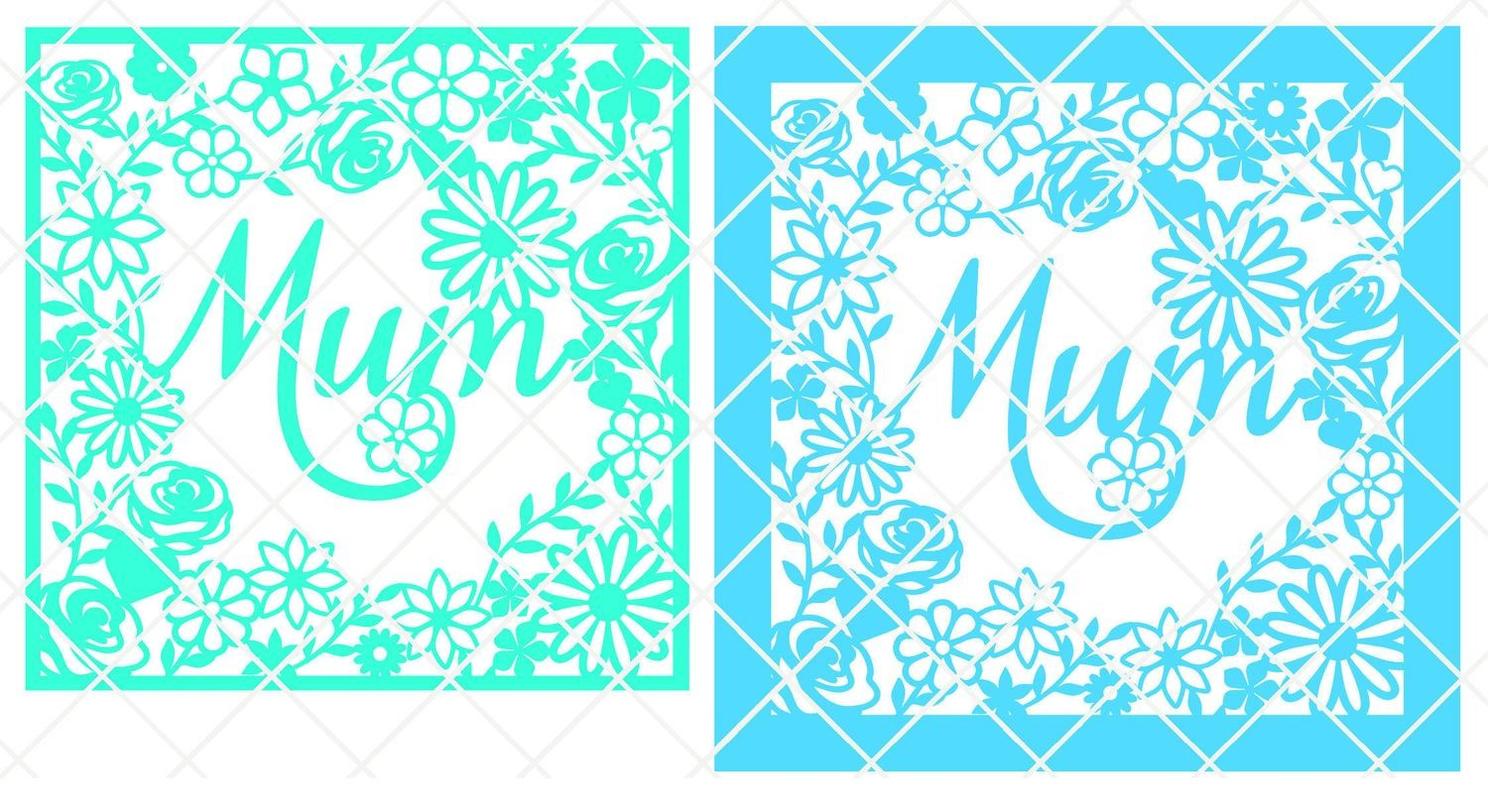 Mum decorative frame plain edge ideal for Mother's Day.