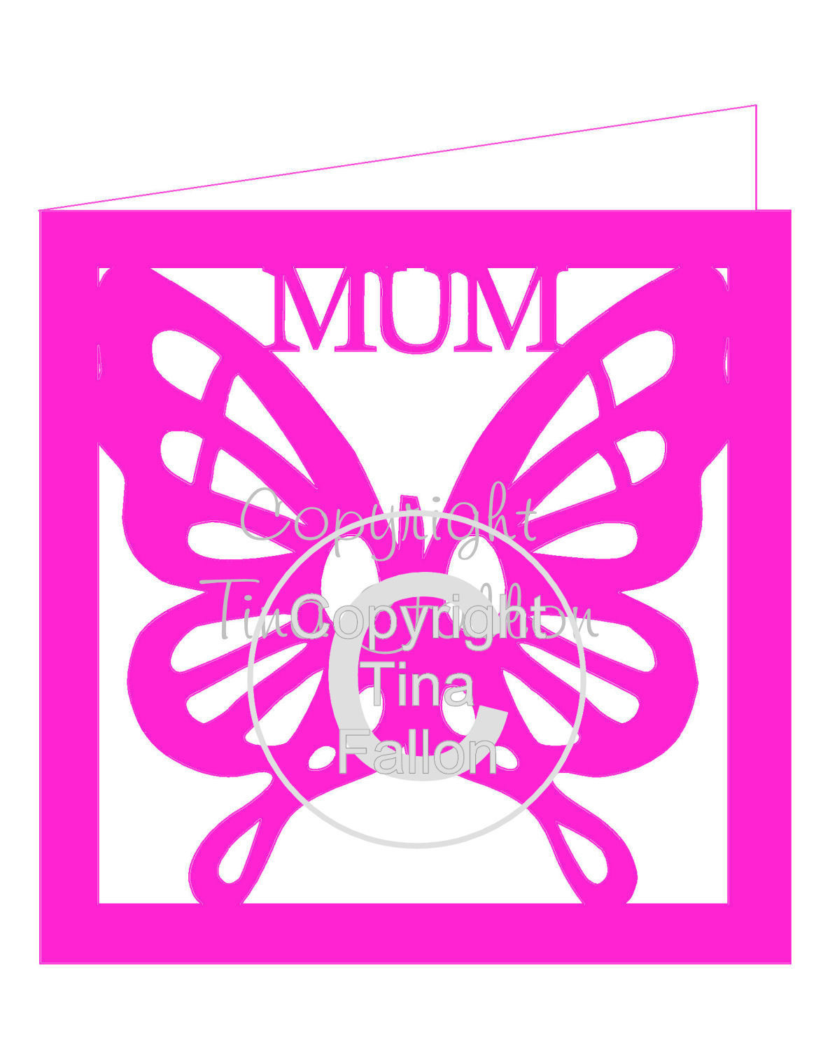 Butterfly Mum card