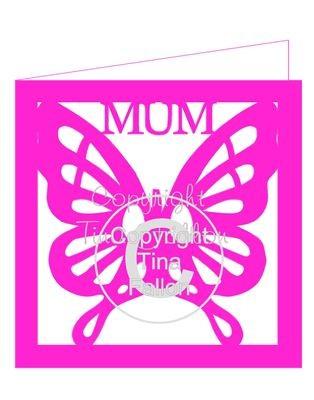 Butterfly Mum card